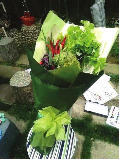 幼儿园手工蔬菜花束图片